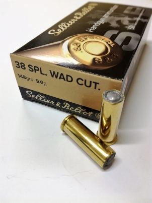 .38 SPECIAL WAD CUTTER S&B