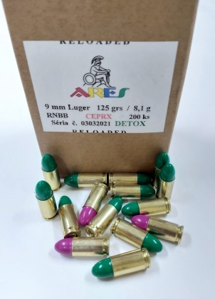 9 mm ARES 125grs 8,1g